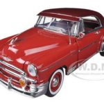 1950 Chevrolet Bel Air Red 1/18 Diecast Car Model by Motormax