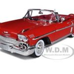 1958 Chevrolet Impala Red 1/18 Diecast Car Model by Motormax