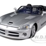 Dodge Viper SRT-10 Silver 1/18 Diecast Model Car by Motormax