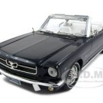 1964 1/2 Ford Mustang Black Convertible 1/18 Diecast Model Car by Motormax