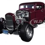 1932 Ford Coupe Burgundy Timeless Classics 1/18 Diecast Model Car by Motormax
