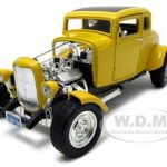 1932 Ford Coupe Hot Rod Yellow 1/18 Diecast Car Model by Motormax