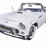 1956 Ford Thunderbird Convertible White 1/18 Diecast Model Car by Motormax