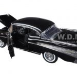 1957 Chevrolet Bel Air Black Timeless Classics 1/18 Diecast Model Car by Motormax