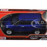 2015 Ford Explorer XLT Blue 1/18 Diecast Model Car by Motormax