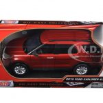 2015 Ford Explorer XLT Red 1/18 Diecast Model Car by Motormax