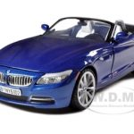 2010 BMW Z4 Convertible Blue 1/24 Diecast Model Car by Motormax