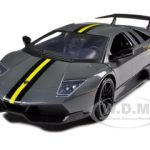 Lamborghini Murcielago LP 670 4 SV Grey Diecast Model Car 1/24 by Motormax