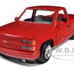 1992 Chevrolet SS 454 Pickup Truck Red 1/24 Diecast Model by Motormax
