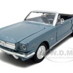 1964 1/2 Ford Mustang Convertible Blue 1/24 Diecast Model Car by Motormax