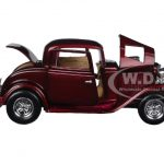 1932 Ford Coupe Burgundy 1/24 Diecast Model Car by Motormax