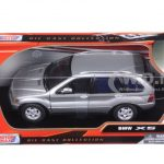BMW X5 Silver 1/24 Diecast Model Car by Motormax