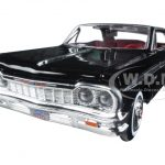 1964 Chevrolet Impala Black 1/24 Diecast Model Car by Motormax