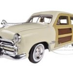 1949 Ford Woody Beige 1/24 Diecast Model Car by Motormax