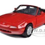 Mazda MX-5 Miata Red 1/24 Diecast Car Model by Motormax