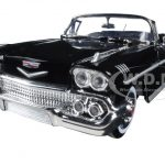 1958 Chevrolet Impala Black 1/24 Diecast Model Car by Motormax