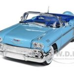 1958 Chevrolet Impala Blue 1/24 Diecast Model Car by Motormax