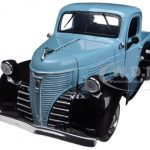 1941 Plymouth Pickup Truck Light Blue/Black 1/24 Diecast Model by Motormax