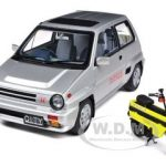 Honda City Turbo II Silver With Motocompo in Yellow 1/18 Diecast Car Model by Autoart