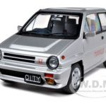 Honda City Turbo II Silver With Motocombo In Red with Bulldog and Display Case 1/18 Diecast Model Car by Autoart