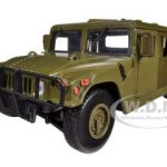 Humvee Military Cargo/Troop Carrier Green 1/24 Diecast Car Model by Motormax