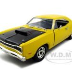 1969 Dodge Coronet Super Bee Yellow 1/24 Diecast Car Model by Motormax