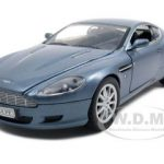 2004 Aston Martin DB9 Blue 1/24 Diecast Model Car by Motormax