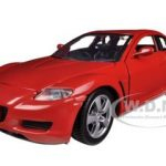 Mazda RX-8 Red 1/24 Diecast Car Model by Motormax