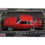 1974 Ford Maverick Red 1/24 Diecast Car Model by Motormax