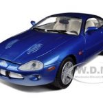 2002 Jaguar XKR Blue 1/24 Diecast Car Model by Motormax
