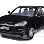 2008 Porsche Cayenne Metallic Black 1/24 Diecast Car Model by Motormax