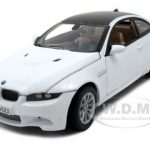 BMW M3 E92 Coupe White 1/24 Diecast Model Car by Motormax