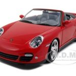 Porsche Carrera 911 997 Turbo Cabriolet Red 1/24 Diecast Model Car by Motormax