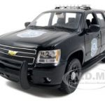 2008 Chevrolet Tahoe Police Black 1/24 Diecast Car Model by Welly