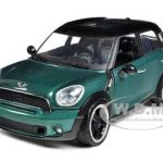 Mini Cooper S Countryman Oxford Green 1/24 Diecast Car Model by Motormax