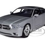 2011 Dodge Charger R/T Hemi Silver No Sunroof 1/24 Diecast Model Car by Motormax