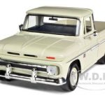 1966 Chevrolet C10 Fleetside Pickup Cream 1/24 Diecast Car Model by Motormax