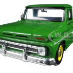 1966 Chevrolet C10 Fleetside Pickup Truck Green 1/24 Diecast Model Car by Motormax