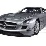 Mercedes SLS AMG GT3 Silver 1/24 Diecast Car Model by Motormax