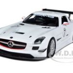 Mercedes SLS AMG GT3 White 1/24 Diecast Car Model by Motormax