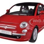 Fiat 500 Nuova Red 1/24 Diecast Car Model by Motormax