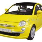 Fiat 500 Nuova Yellow 1/24 Diecast Car Model by Motormax