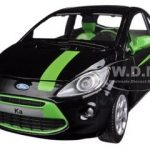 Ford Ka Black / Green 1/24 Diecast Car Model by Motormax