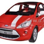 Ford Ka Red / White 1/24 Diecast Car Model by Motormax