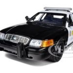 2001 Ford Crown Victoria San Gabriel Police Interceptor 1/18 Diecast Car Model by Motormax