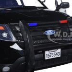 2015 Ford PI Utility Interceptor Special Service Black Police Car 1/18 Diecast Model Car by Motormax