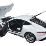 2015 Jaguar F-Type R Coupe Polaris White 1/18 Model Car by Autoart