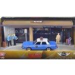 Diorama The Usual Suspects Movie 1983 Dodge Diplomat Salon Police Car 1/43 Diecast Model by Motormax