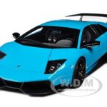 2009 Lamborghini Murcielago LP670-4 SV Turquoise Blue 1/18 Diecast Car Model  by Autoart