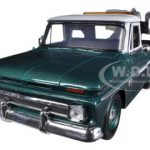 1966 Chevrolet C-10 Fleetside Tow Truck Green 1/24 Diecast Model by Motormax